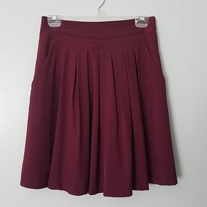 Forever 21 Skirts - Forever 21 Wine colored high waist skirt w pockets